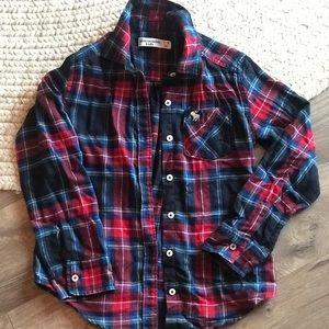 Plaid Blue/Red long sleeve shirt